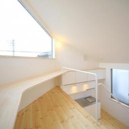 ミニマムハウス te-house (ロフト-ワークスペース(撮影:永石写真事務所))