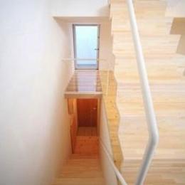 階段(撮影:永石写真事務所) (ミニマムハウス te-house)