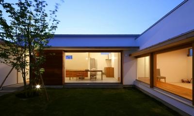 海東の家/地に近い暮らし 中庭が広がる住まい (中庭)