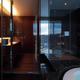 軽井沢の別荘(A邸)-バスルーム
