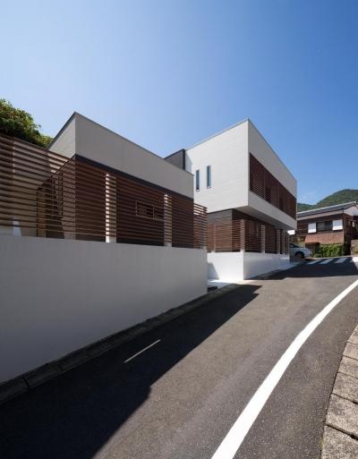 外観 (Y2-house・Y3-house 「縦と横の家」)
