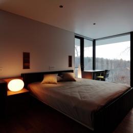 軽井沢の別荘(A邸)-ベッドルーム