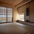 空中テラスのある家の写真 茶室テイストの和室