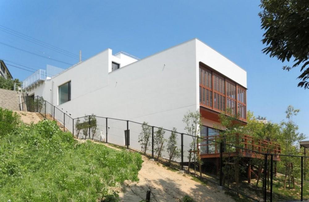 傾斜地の家1 (南西外観)