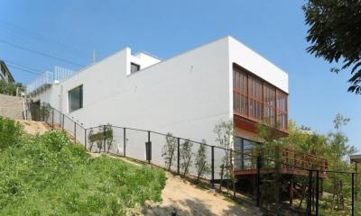 傾斜地の家1