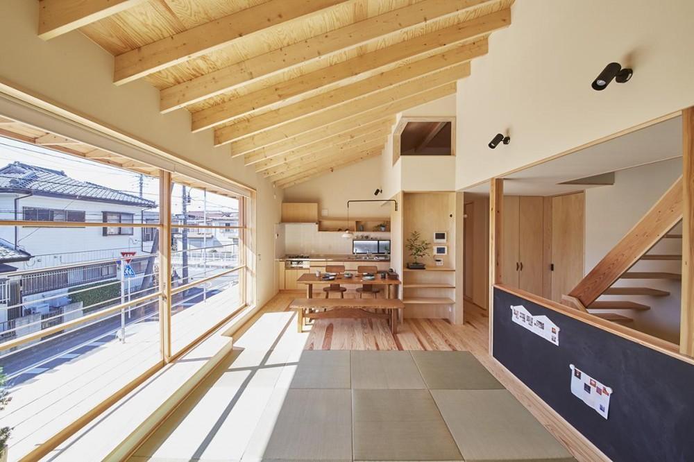 柳崎の住宅 (空に浮かぶタタミリビング)