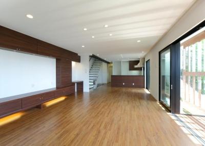 傾斜地の家1 (リビングルーム2)
