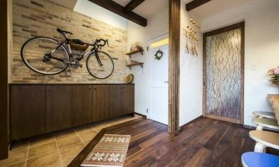 玄関ホール|将来は自宅でカフェを開く、おもてなしの家