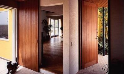 甲南山手の家 (玄関)