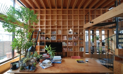 本棚でできた住宅|66/100 木箱・阿佐ヶ谷