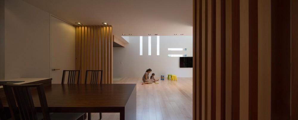 Y2-house・Y3-house 「縦と横の家」 (リビングダイニング)