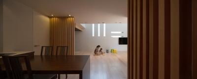 リビングダイニング (Y2-house・Y3-house 「縦と横の家」)