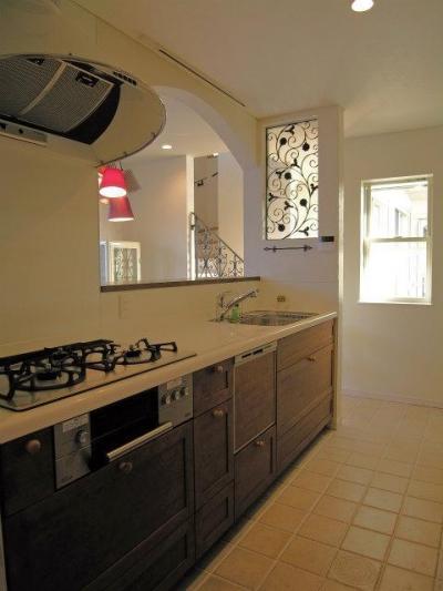 パリ、アパルトマンスタイルの家 (キッチン)