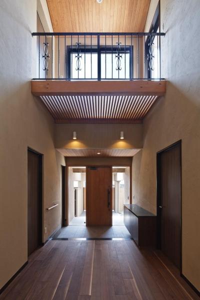 右京の家 (吹抜けの玄関-その2)
