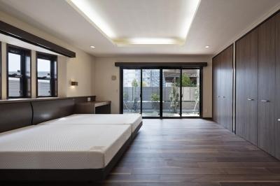 右京の家 (2つのベットを置く寝室)