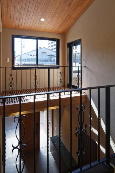 手すり (右京の家#アール階段のある広々としたリビング)