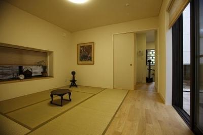 モダンな和室 (上品なアジアンテイストの家)