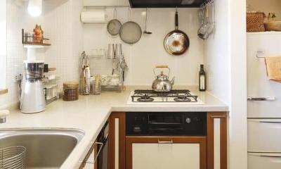 H邸・白のハーモニーで作る二人のこだわり空間 (キッチン2)