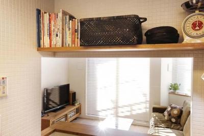 キッチン3 (H邸・白のハーモニーで作る二人のこだわり空間)