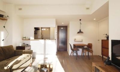 H邸・白のハーモニーで作る二人のこだわり空間