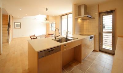 オープンテラスの家 (キッチン)