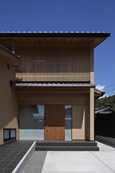 玄関アプローチ (京都市Tn邸)
