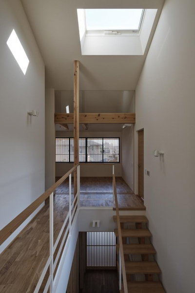 吹抜け階段 (京都市Tn邸)