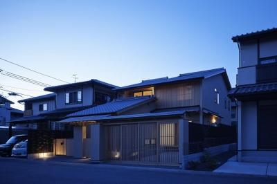 京都市Tn邸 (外観夜景)