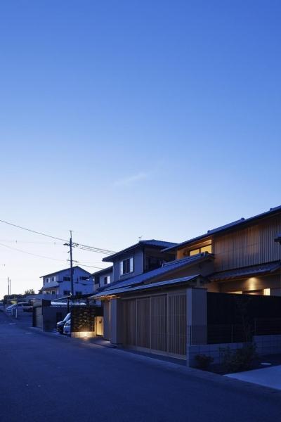 京都市Tn邸 (外観夜景遠景)