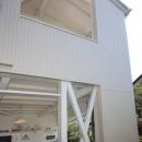内と外をつなぐ半屋外の開放的な空間