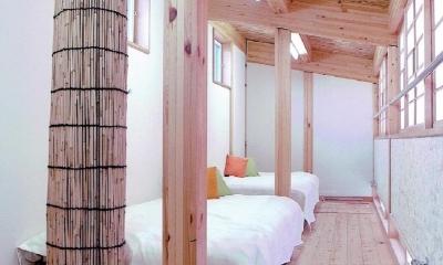 ロフト|家族のびのび大空間:自然素材の家