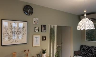池田の家:狭小間口の木造3階建て住宅 (リビング)