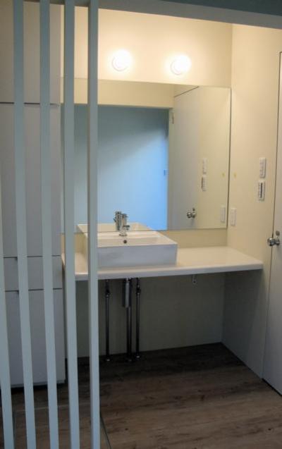 洗面室 (狭小間口の木造3階建て住宅)