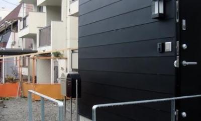 池田の家:狭小間口の木造3階建て住宅 (外観)