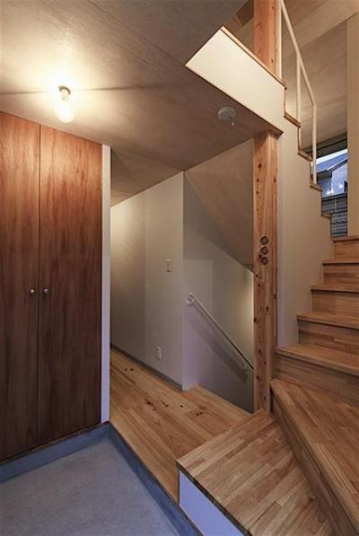 玄関 (宝塚の家:大阪の注文住宅 地下1階地上3階建て住宅)