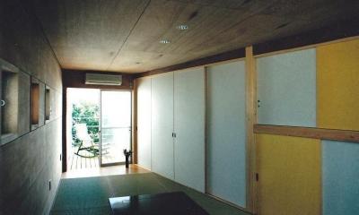 三角地で開放的に暮らす家|K HOUSE (タタミルーム)