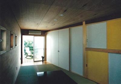 タタミルーム (三角地で開放的に暮らす家|K HOUSE)
