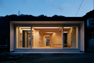 タテカグの家 -建築・内装・家具のトータルデザイン住宅- (外観夜景)
