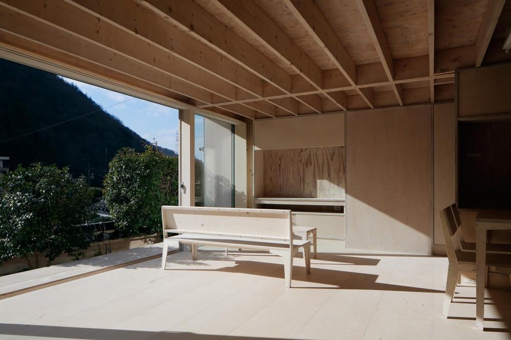 リビングの眺め (タテカグの家 -建築・内装・家具のトータルデザイン住宅-)