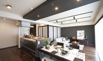 ダイニングキッチン|和と洋の良さを美しく融合、和洋風雅。