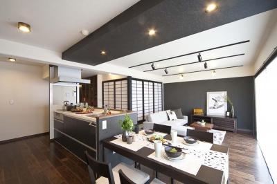 ダイニングキッチン (和と洋の良さを美しく融合、和洋風雅。)