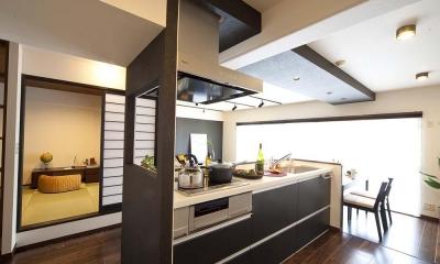 キッチン|和と洋の良さを美しく融合、和洋風雅。