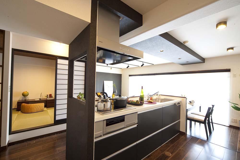 和と洋の良さを美しく融合、和洋風雅。の部屋 キッチン