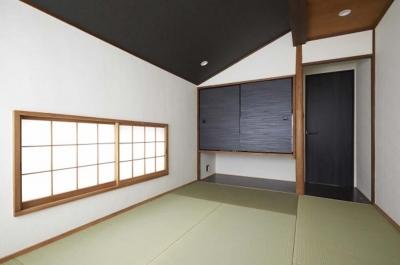 木格子で叶える、温もりとモダンデザインの融合 (和室)