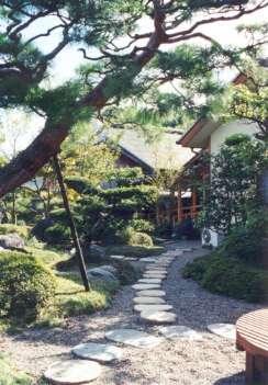 坂東邸の部屋 庭の飛び石