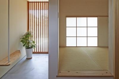 玄関 (ホソナガハウス)