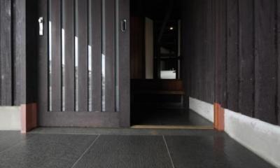 玄関入口-床部分|木更津の家