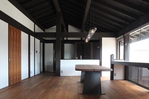 木更津の家 (リビングダイニング)