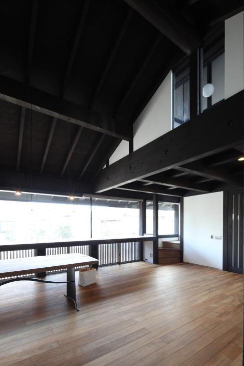 木更津の家の写真 吹き抜けのリビングダイニング