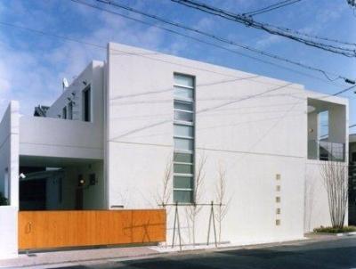コンクリート打ちっぱなしの外観 (Takada-Cho BOX)